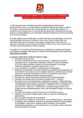 Un nouveau decret definit la liste des personnes vulnerables page 001